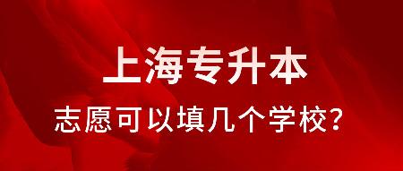 上海专升本志愿可以填几个学校?